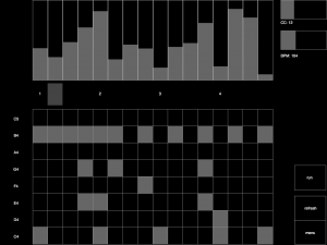 Image of a step sequencer running in Control